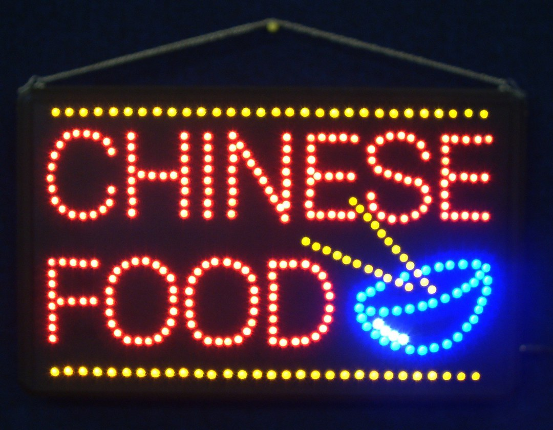 (LED-SIGN-16) LED Flashing CHINESE FOOD Sign image 0