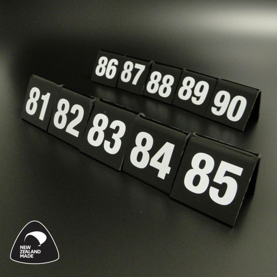 Black Table Numbers 81-90 image 0