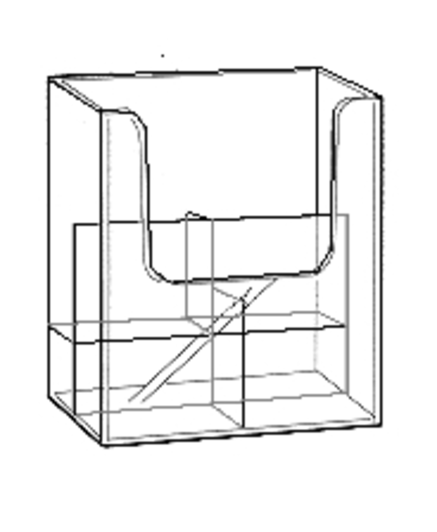 DLE 2-Tier x 2-Wide Wall Brochure Holder image 0