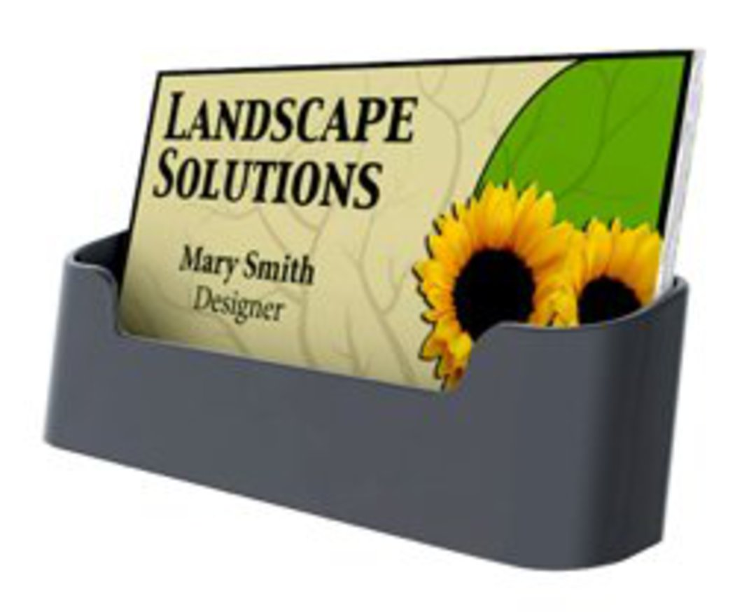 Single Pocket Black Recycled Business Card Holder image 0