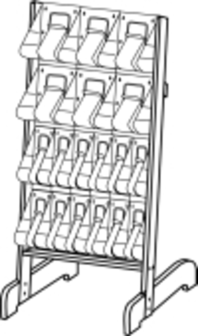"(58941) ""Stand-Tall"" Literature Rack, 6 x A4, 12 x DLE, Easel image 0"