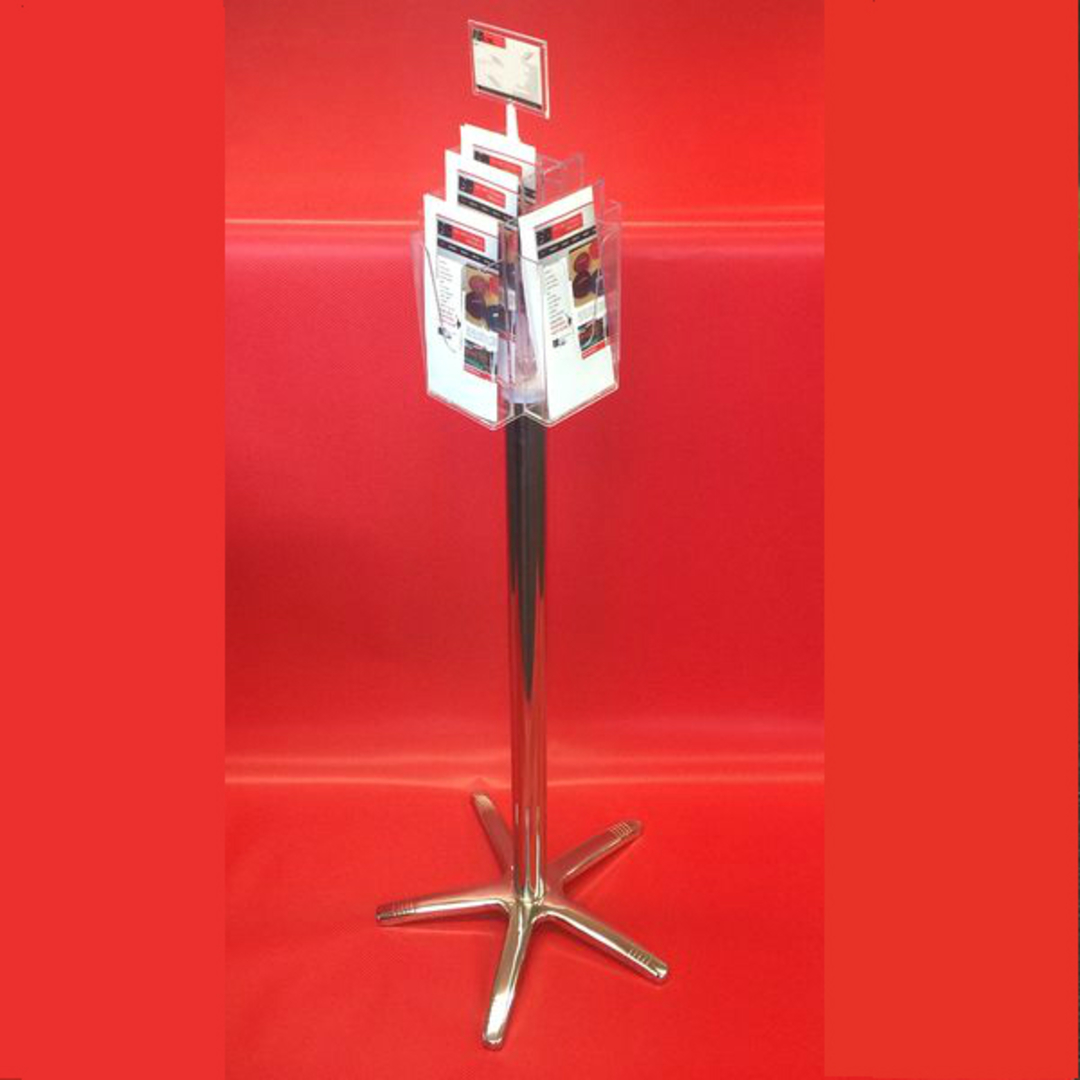 DLE x8 Floor Stand Revolving Brochure Holder (no castors) image 1