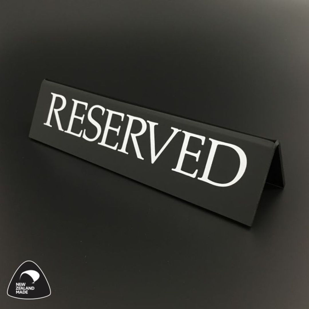 Small Black RESERVED Table Sign image 0