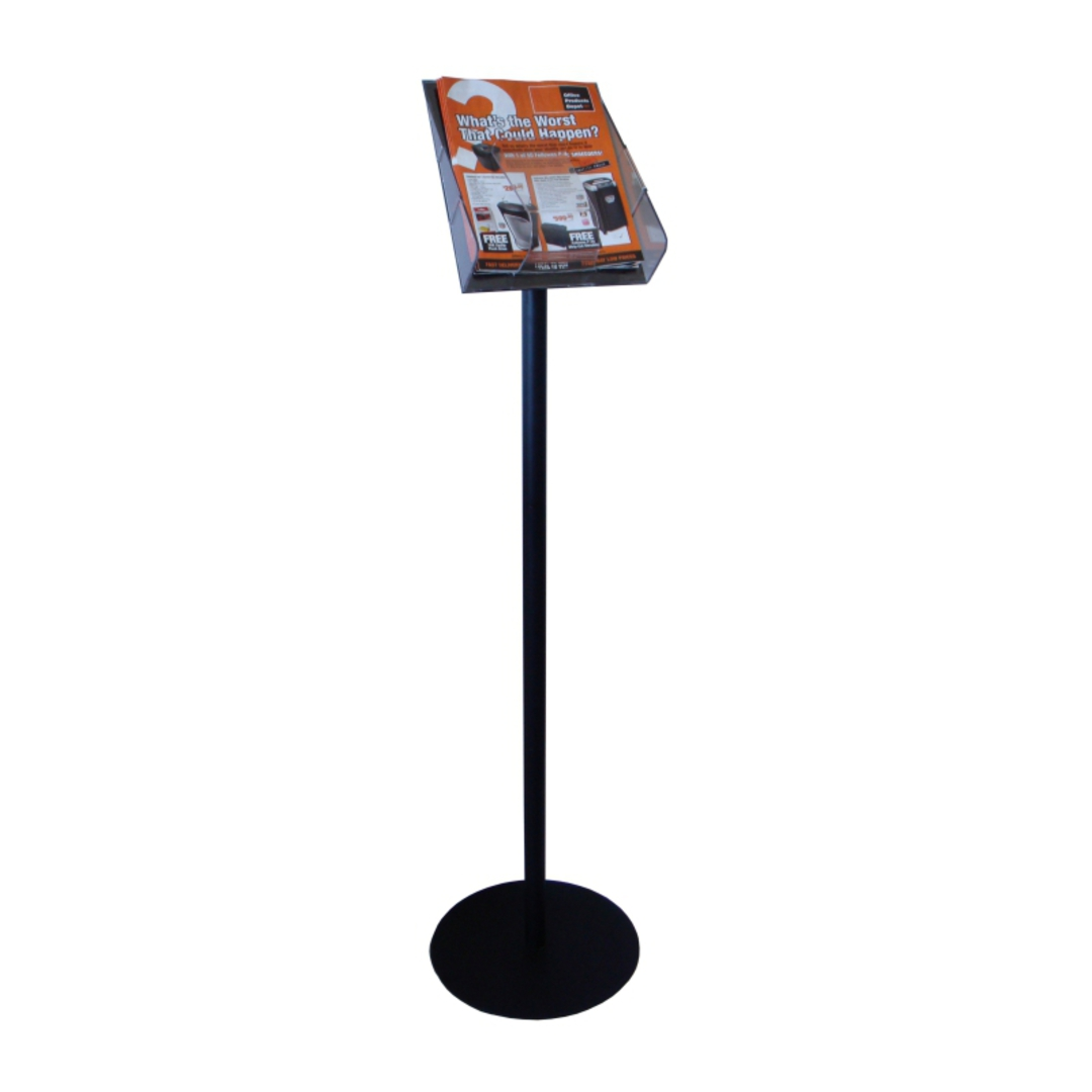 Stand Tall A4 Brochure Holder with Pole & Base image 0