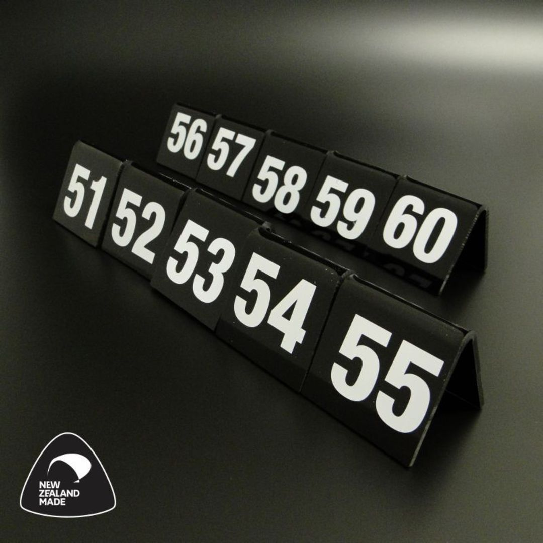 Black Table Numbers 51-60 image 0