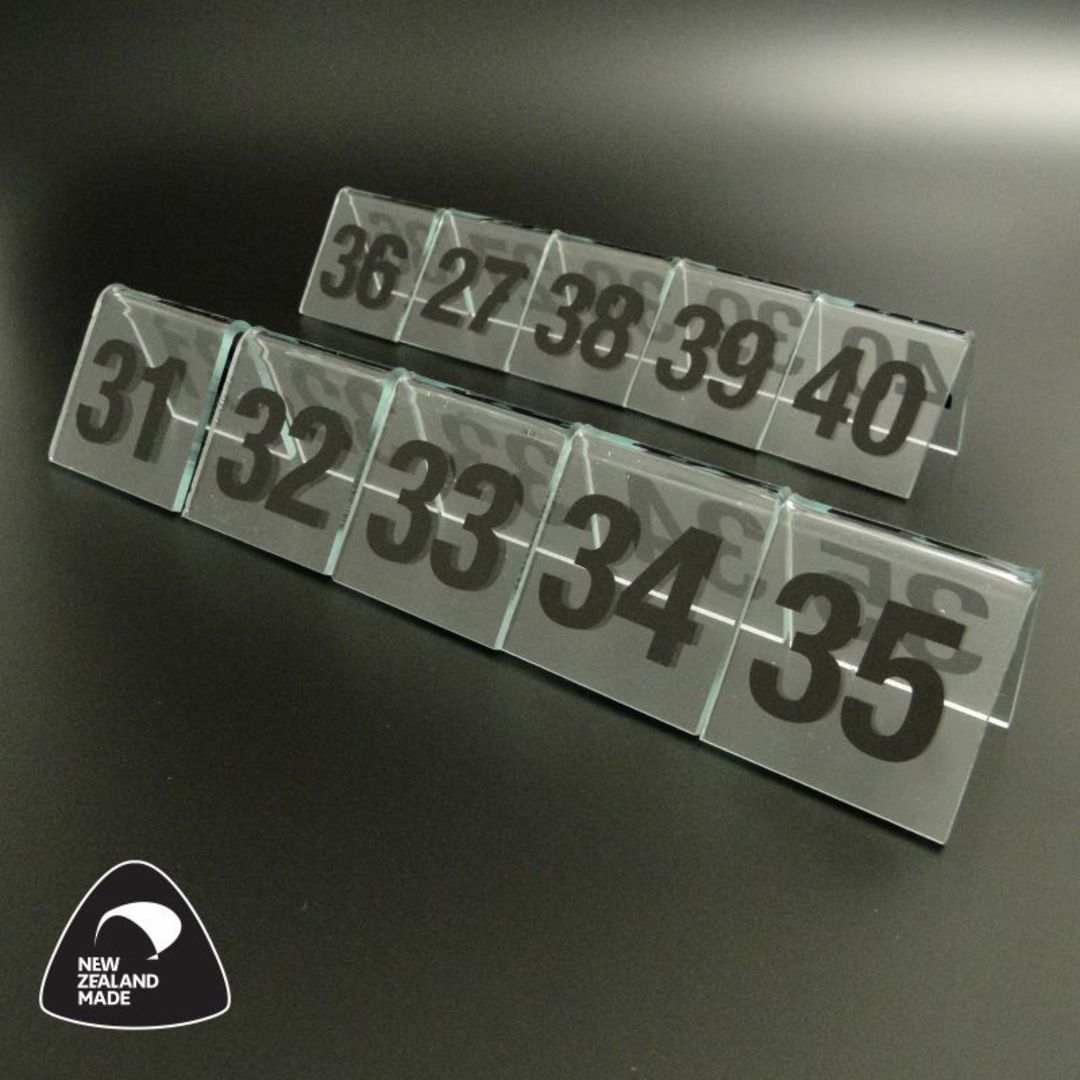 Clear Table Numbers 31-40 image 0