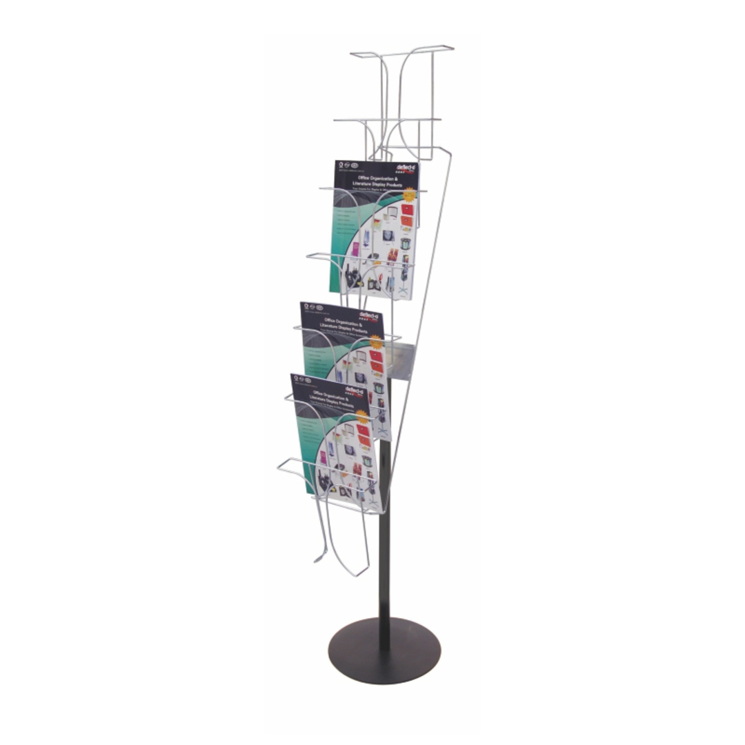A4 7-pocket Chrome Wire Literature Holder Floor Stand 7 Tier x 1 Wide image 0