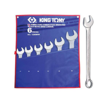 WRENCH R&OE SET 34-50mm 6pc KING TONY image 0