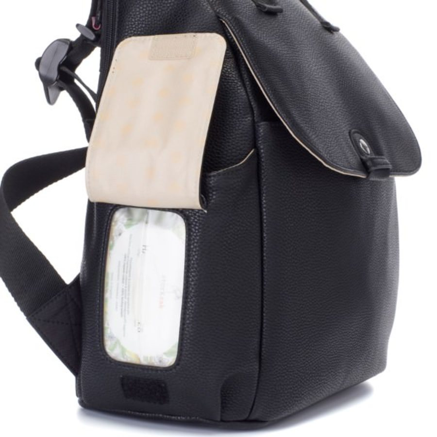 Babymel Robyn Convertible Backpack Nappy Bag - Faux Leather Black image 8