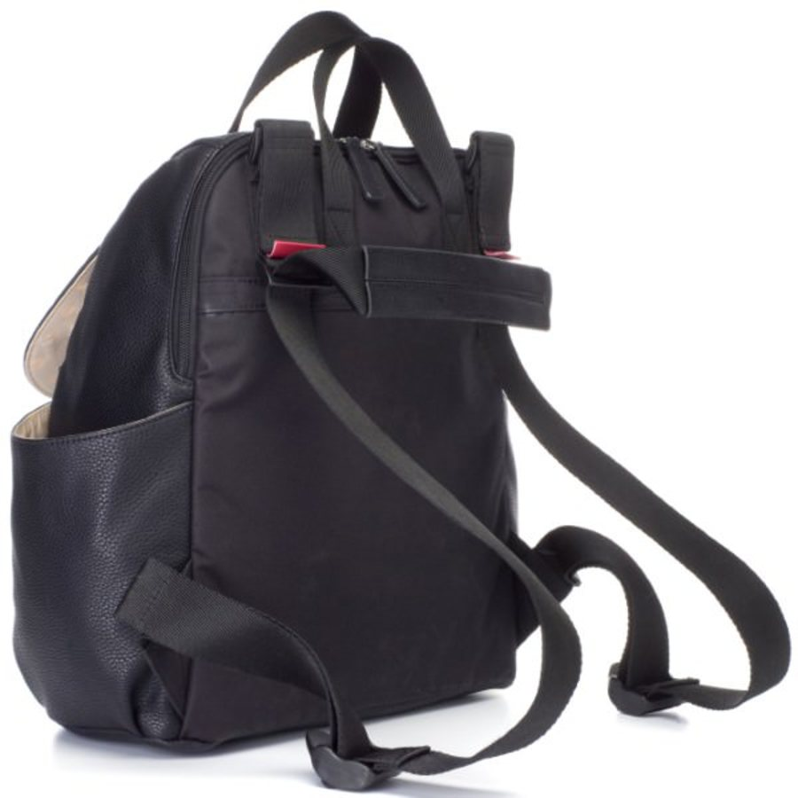 Babymel Robyn Convertible Backpack Nappy Bag - Faux Leather Black image 2