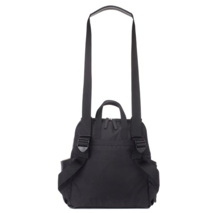 Babymel Robyn Convertible Backpack Nappy Bag - Faux Leather Black image 6