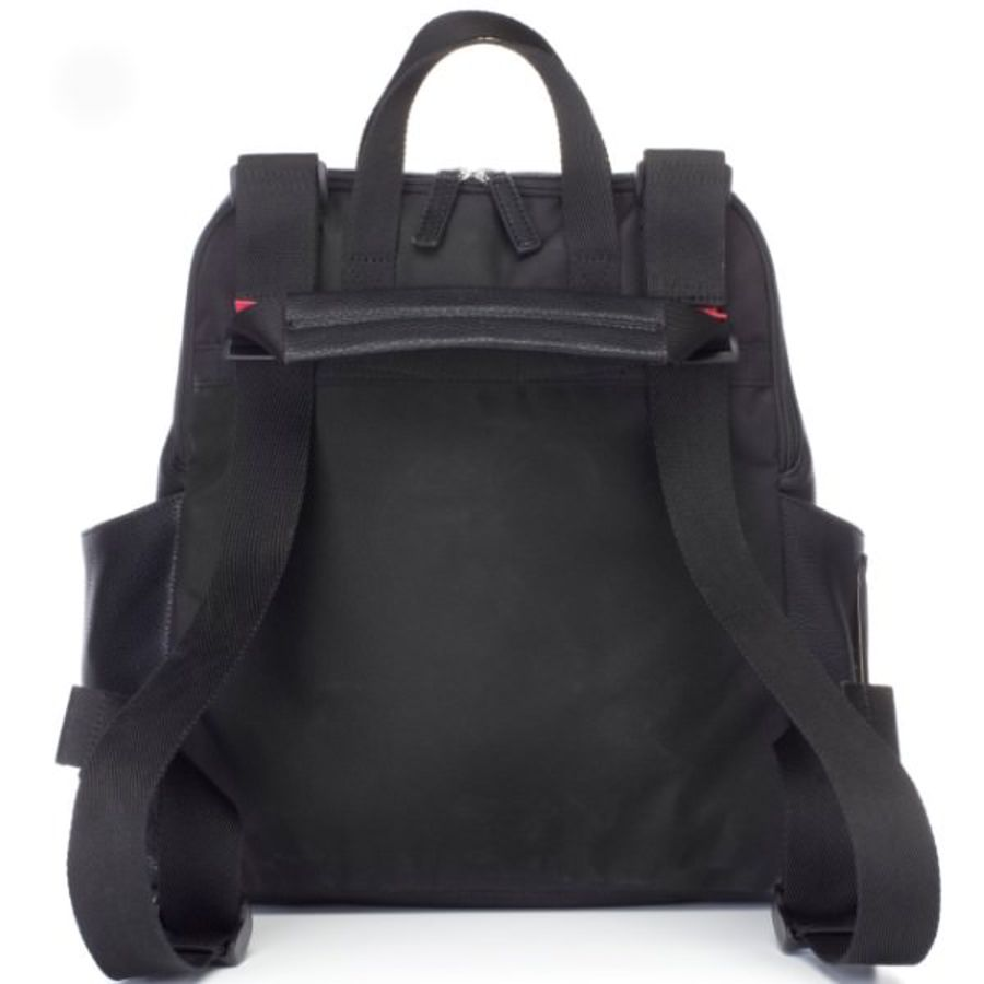 Babymel Robyn Convertible Backpack Nappy Bag - Faux Leather Black image 1