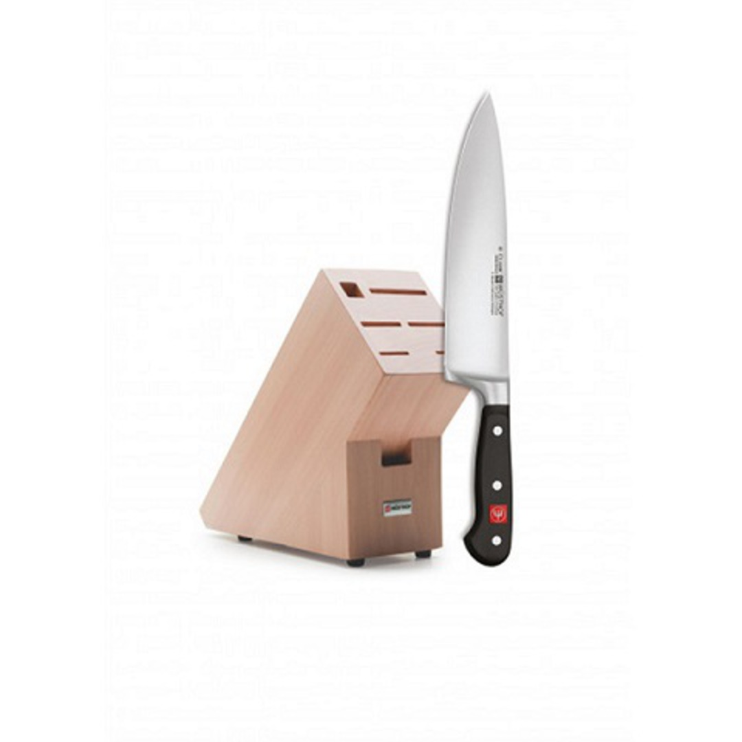 "Wusthof Classic Chef Knife 20cm / 8"" with Knife Block image 0"
