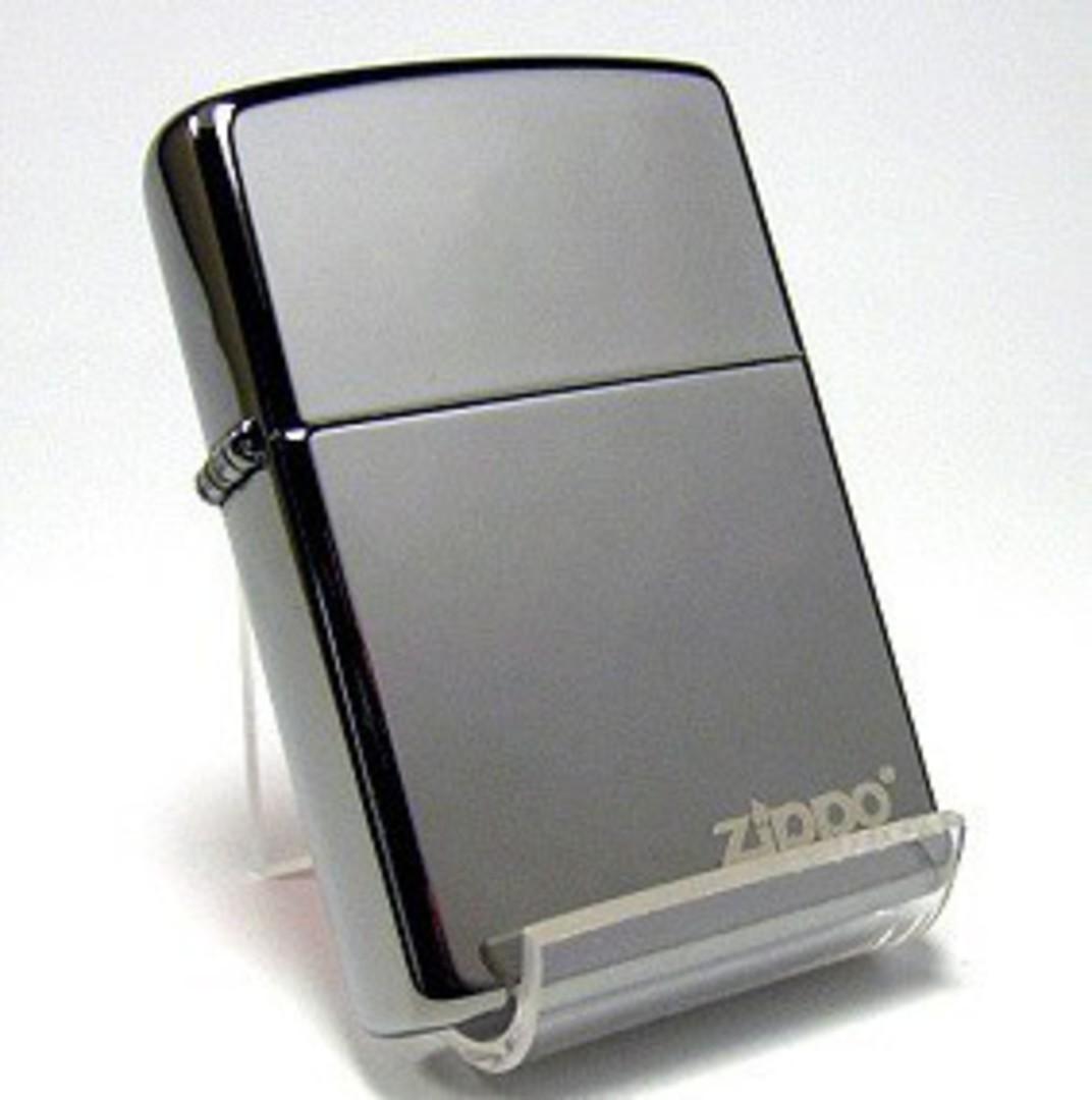 Zippo Black Ice with Zippo Logo Lighter image 0