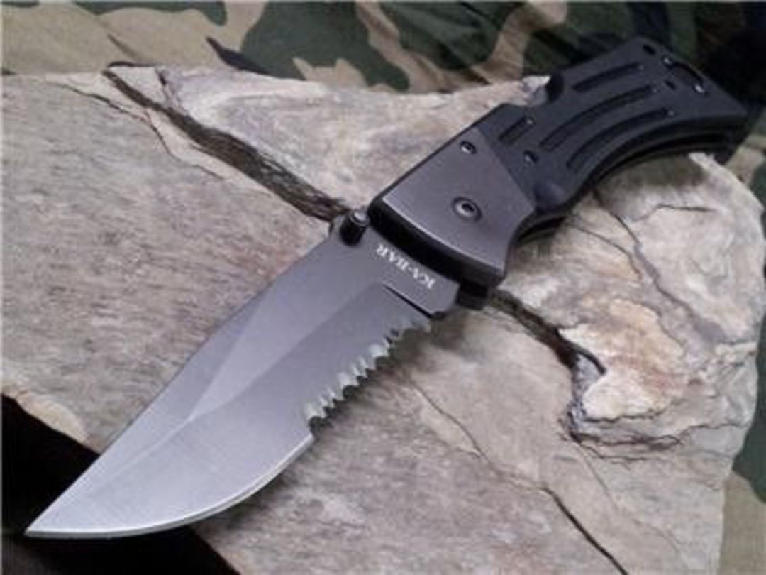 Ka-Bar G10 MULE Serrated Black Knife - 3063 image 0