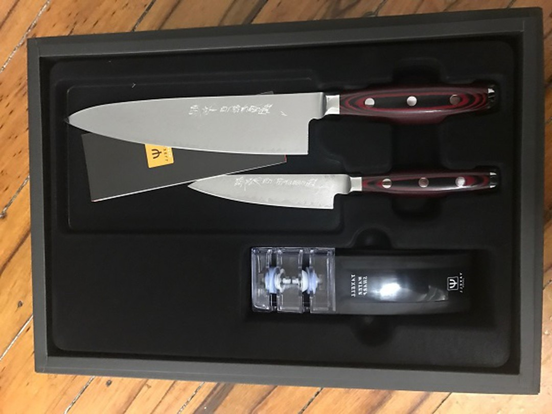 Super GOU Japanese Damascus Chefs Knife 3PC Gift Set image 1