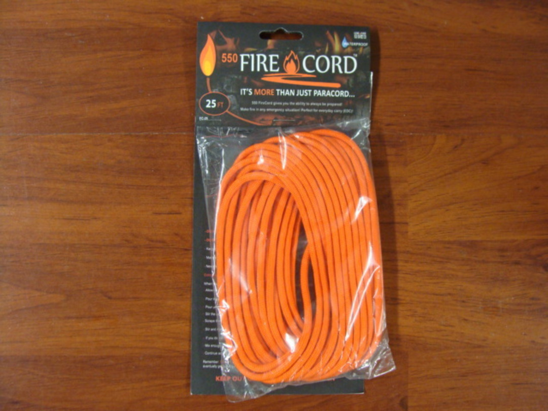550 Fire Cord / Firecord 25ft - Safety Orange image 0