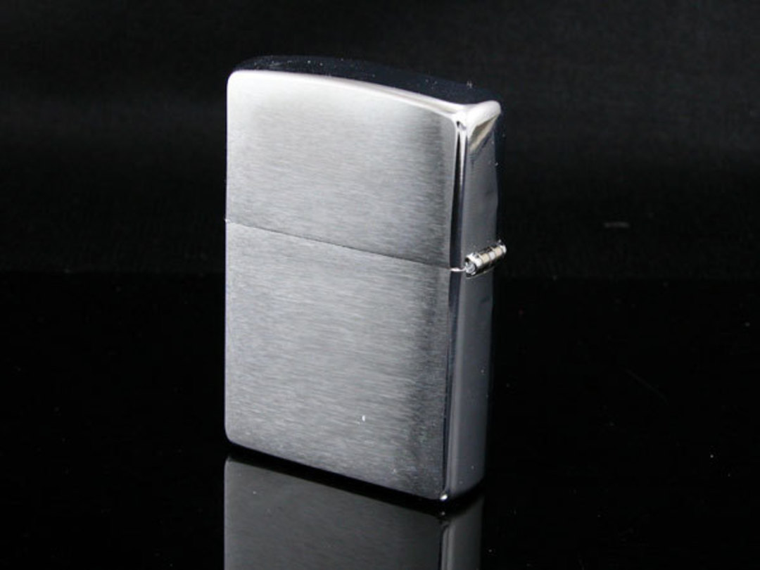 2 X Zippo Brushed Chrome Lighter image 0