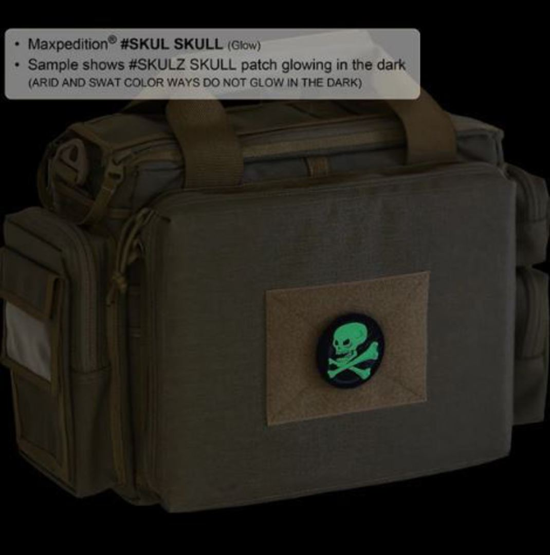 MAXPEDITION SKULL MORALE PATCH GLOW image 1