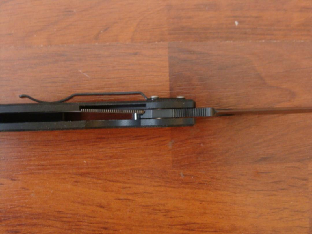 Spyderco Military S30V Black Handle folding Knife - Black Blade C36GPBK image 2