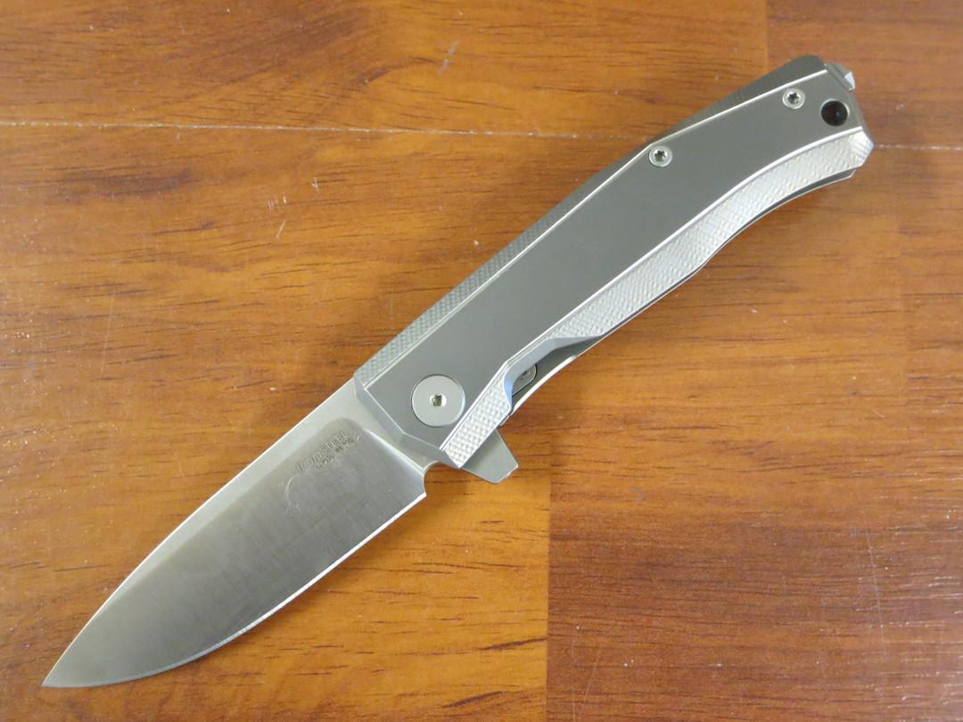 LionSteel Myto: hi-tech EDC folding knife for all everyday activities - Grey titanium image 0