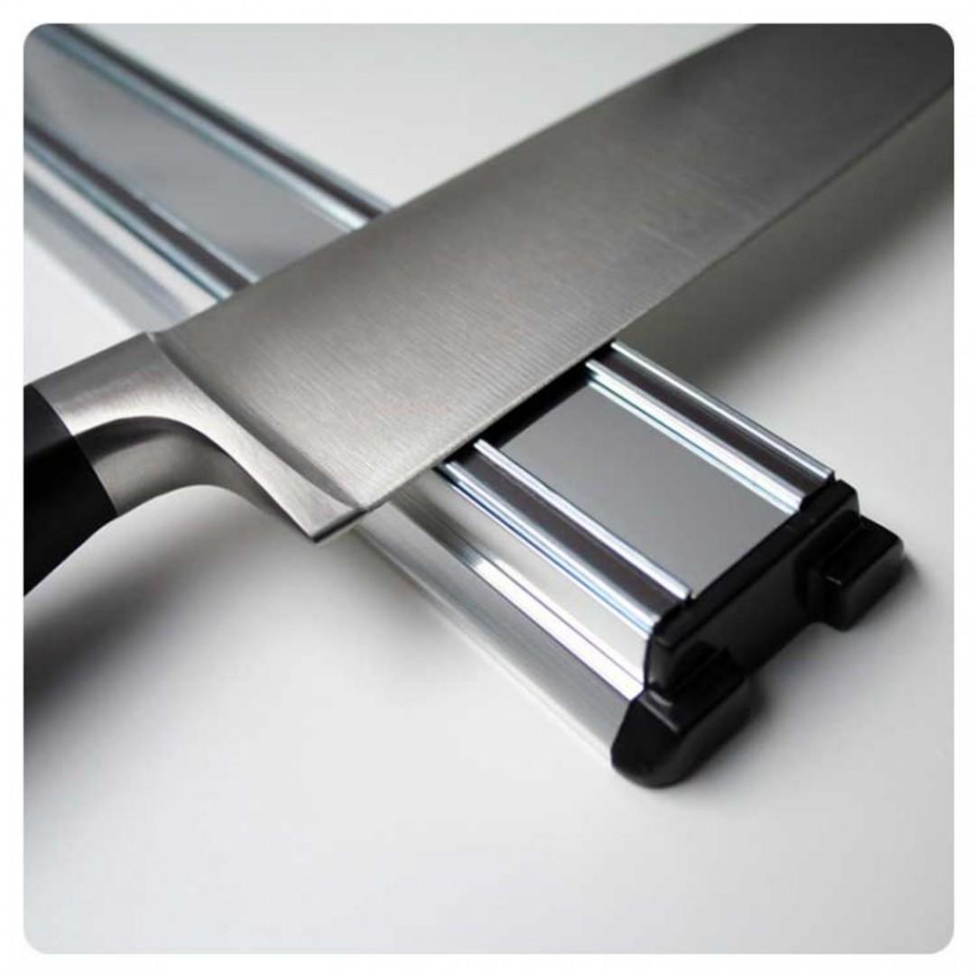 Bisbell Bisigrip Silver Magnetic Knife Rack 30cm image 0