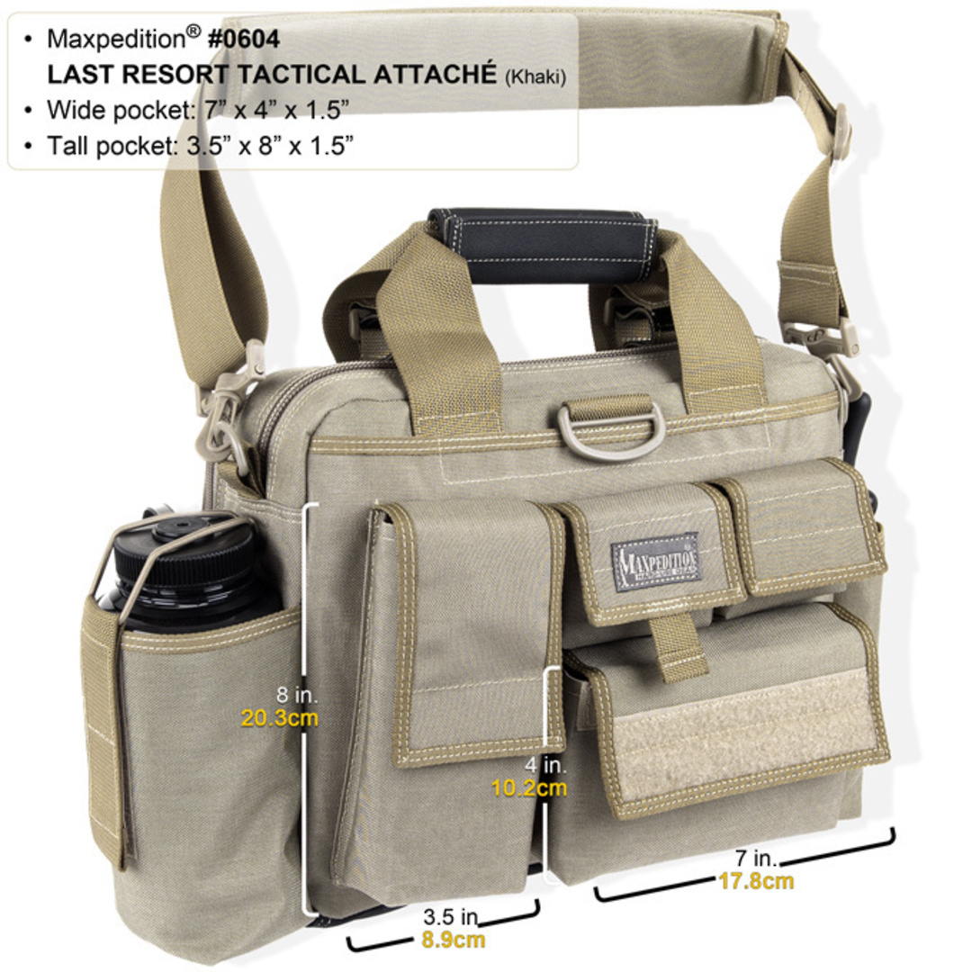 Maxpedition Last Resort Tactical Attache (Small) - Green image 2