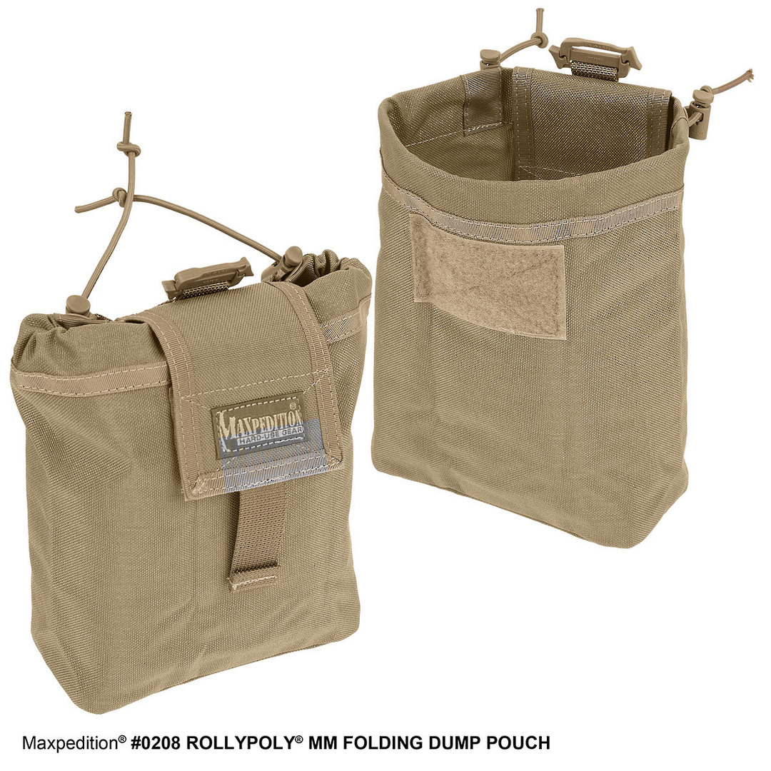 Maxpedition Rollypoly® MM Folding Dump Pouch - Khaki image 7