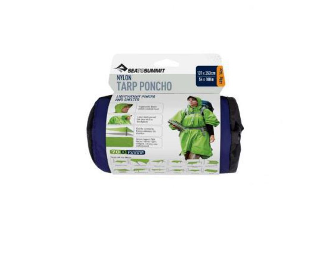 SEA TO SUMMIT NYLON WATERPROOF TARP PONCHO - Blue image 2