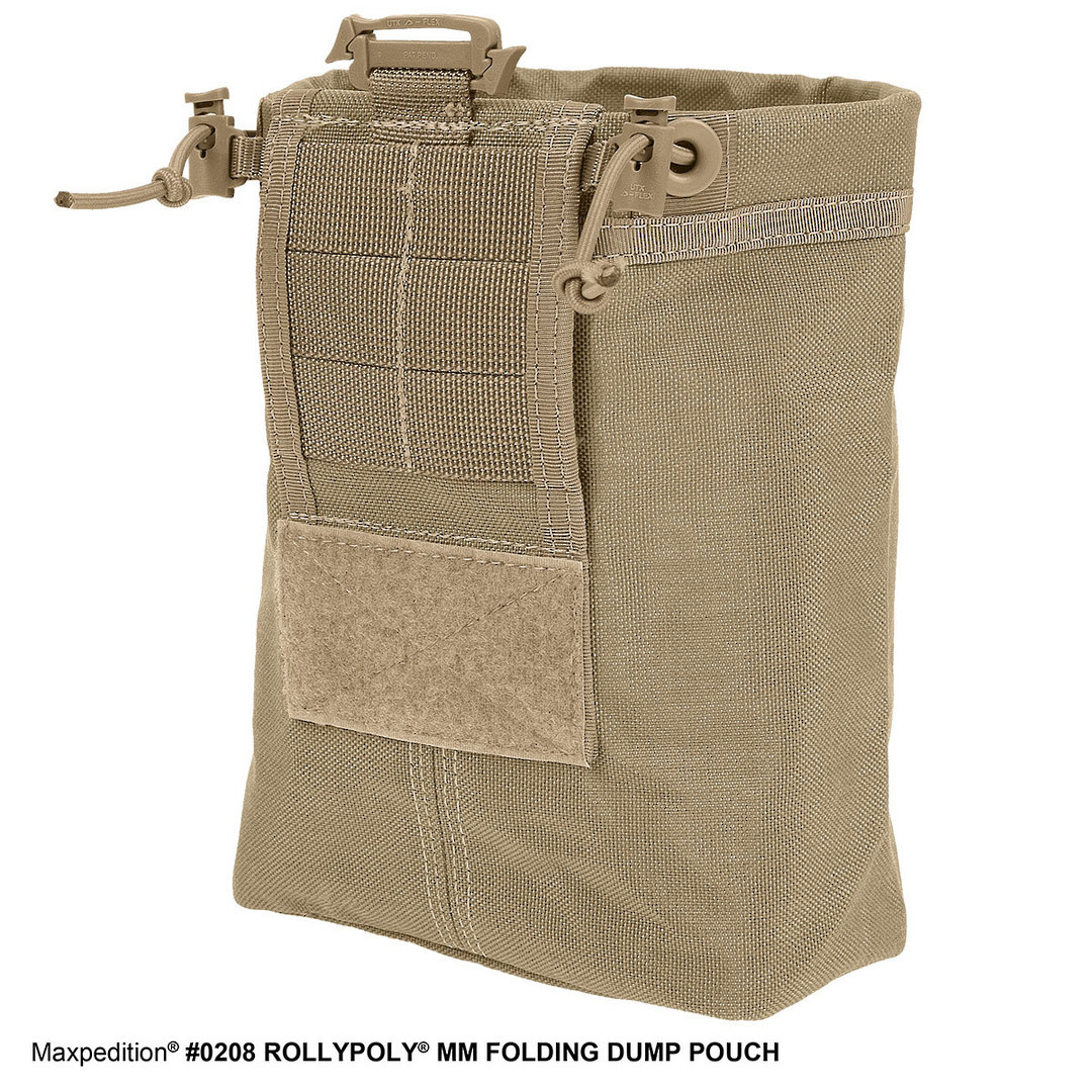 Maxpedition Rollypoly® MM Folding Dump Pouch - Khaki image 5