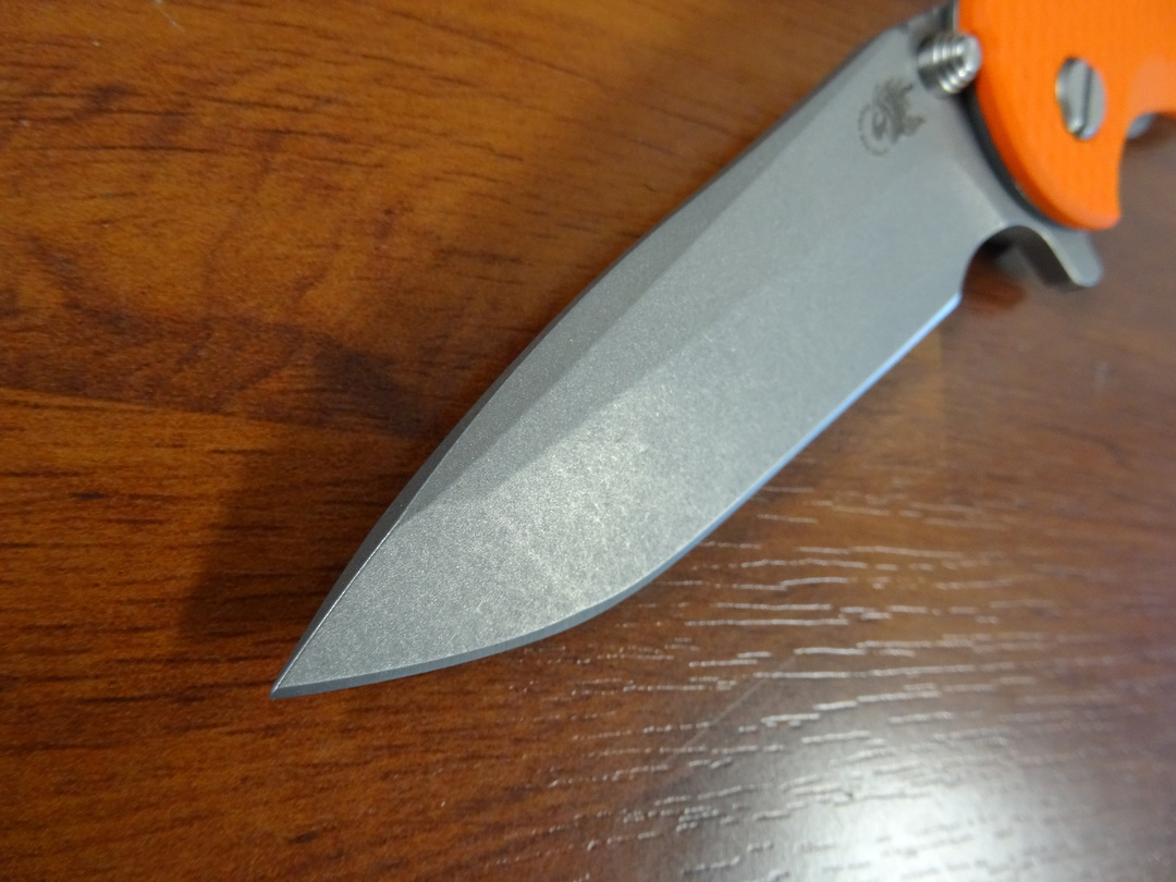 Rick Hinderer Tri-Way XM-18 3.5 Flipper, S45VN Spanto-Working Finish-Orange G10 image 1