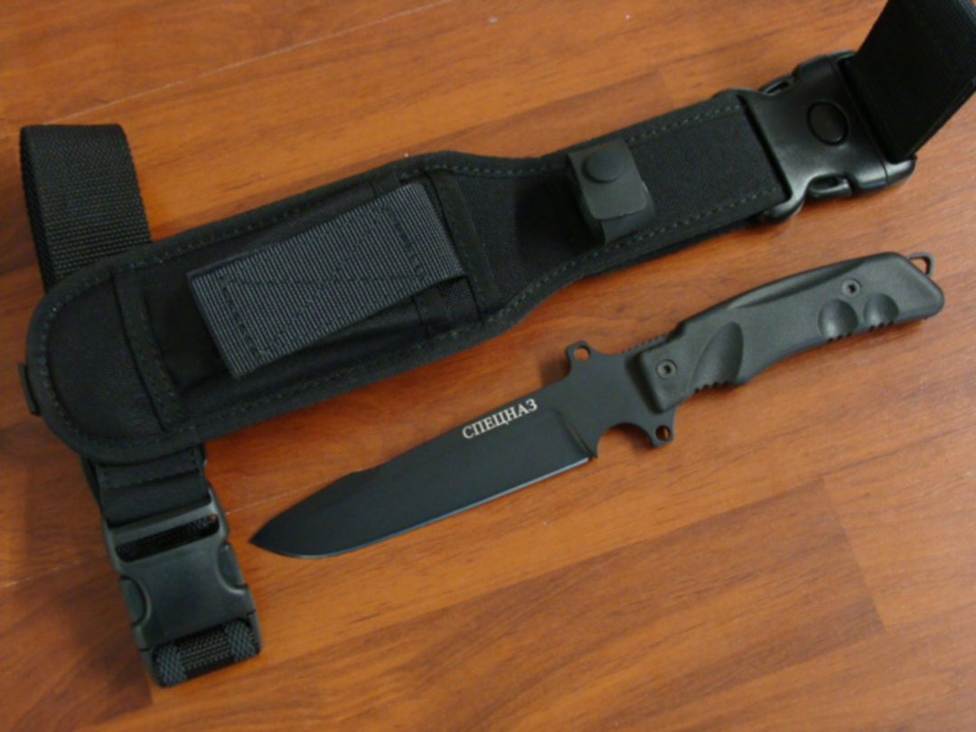 FOX Knives Predator Spetsnaz Tactical Fixed Knife W/Leg Strap FXG4B image 0