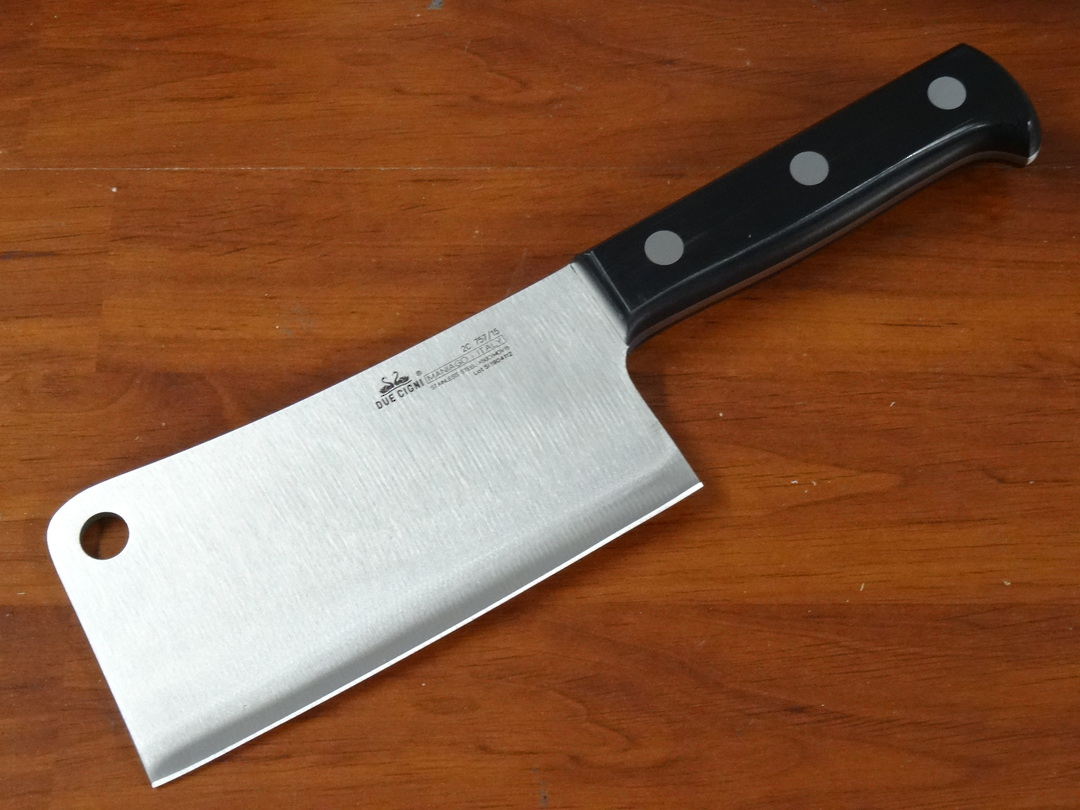 """Due Cigni  """"CLASSICA"""" full tang Chinese Cleaver 15cm 500g image 0"""