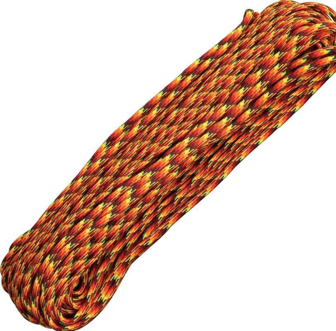 100ft 550 Parachute Cord/Paracord - Fireball image 0