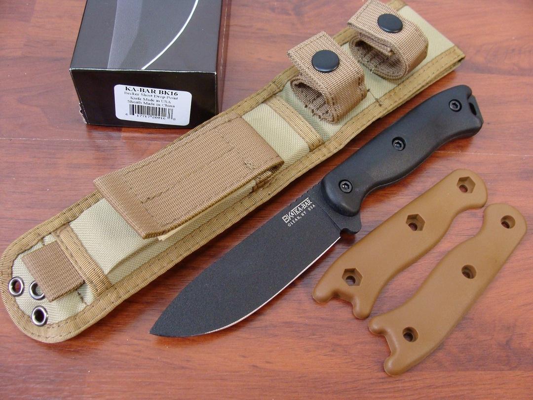 Ka-Bar  BK16 Short Drop Point Knife image 0