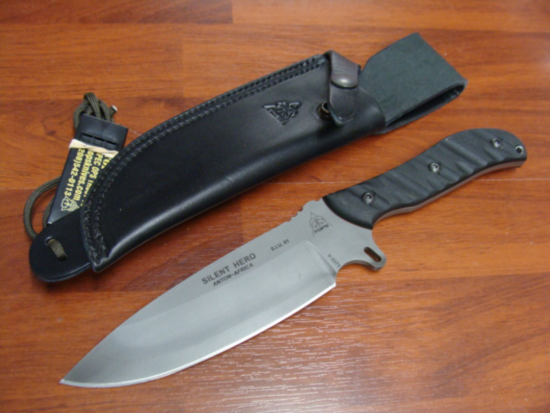 TOPS Knives Silent Hero Fixed Knife image 0