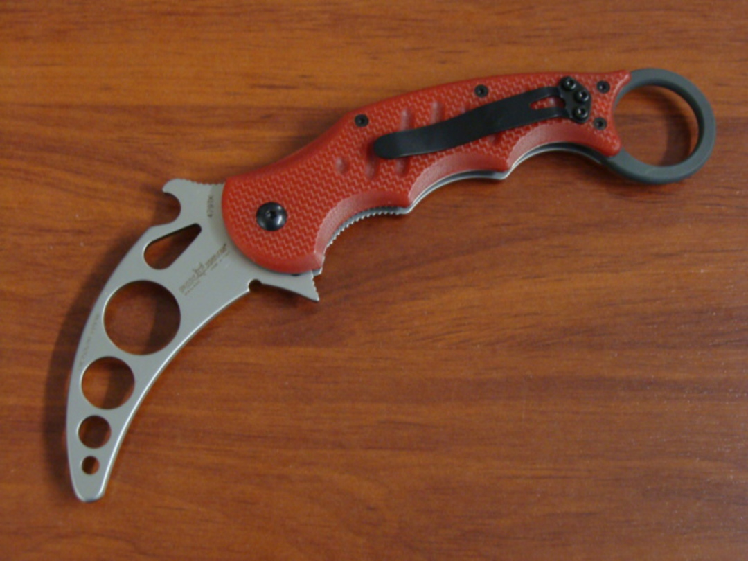 Fox Knives Folding Karambit Trainer, Red G10 Handles FX479TK image 0