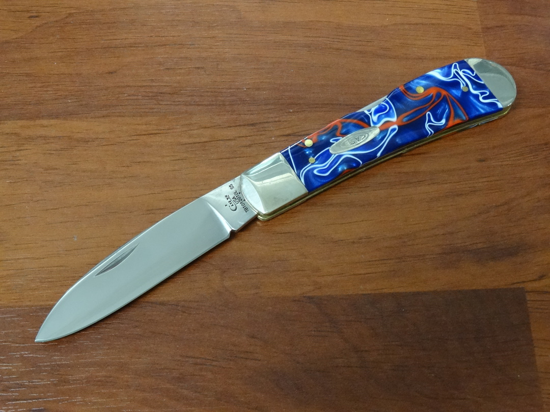 Case Cutlery Acrylic Tribal Lock Patriotic Kirinite Pocket Knife - 11213 image 0