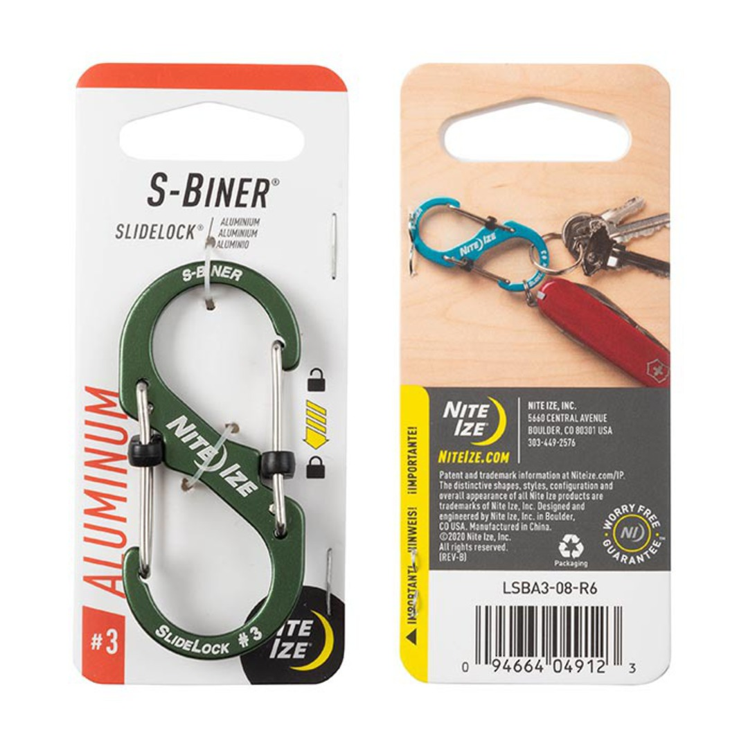 Nite Ize S-Biner Slidelock #3 Olive image 0