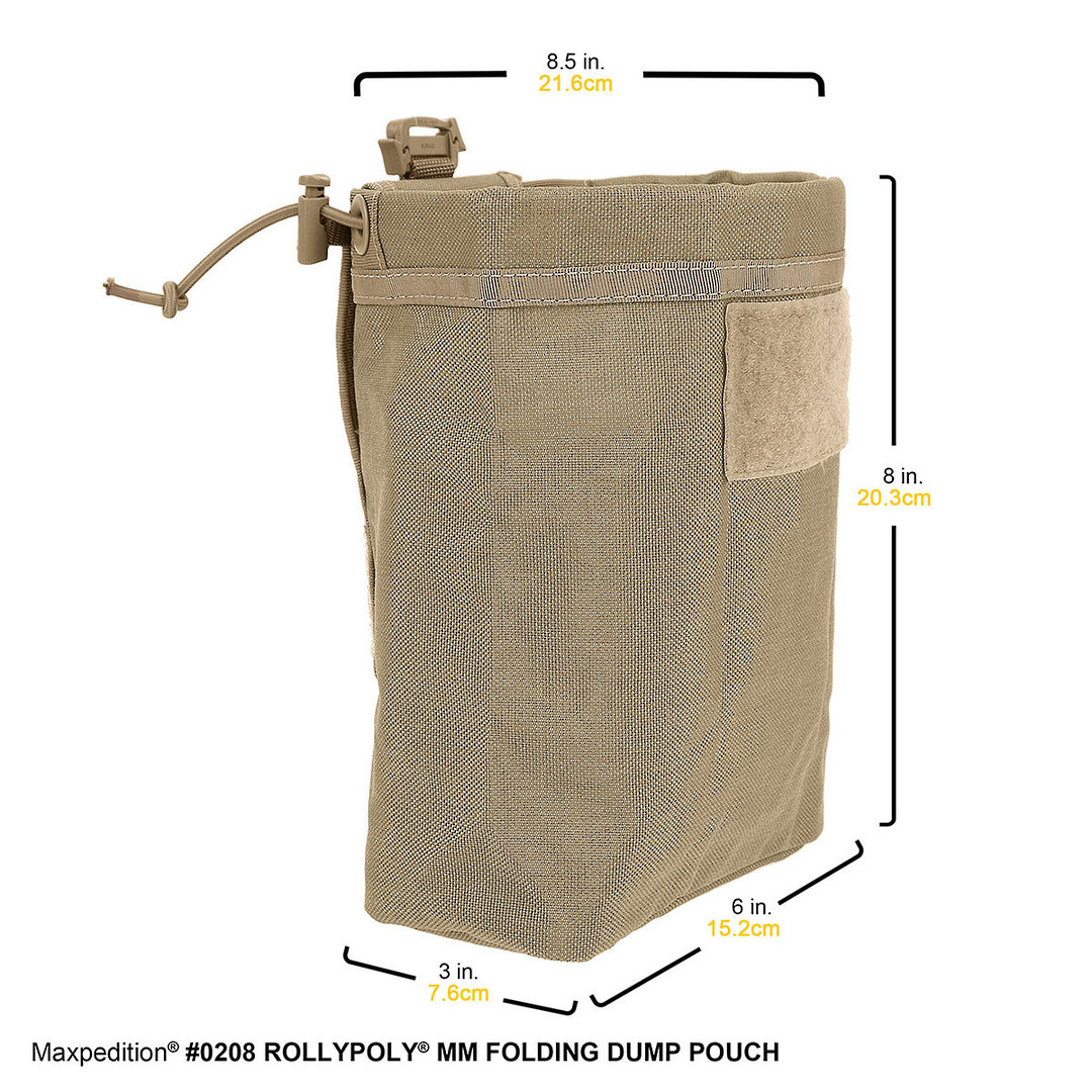Maxpedition Rollypoly® MM Folding Dump Pouch - Khaki image 4