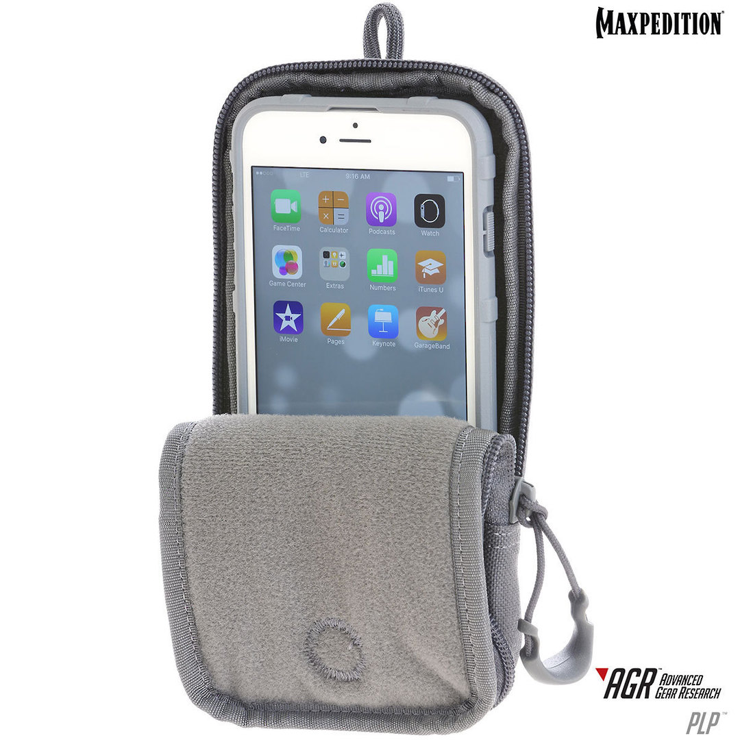 Maxpedition PLP iPhone 6 Plus, iPhone 7 or 8 Plus Pouch, Black image 4