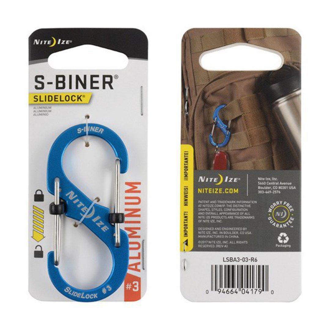 Nite Ize S-Biner Slidelock #3 Blue image 0