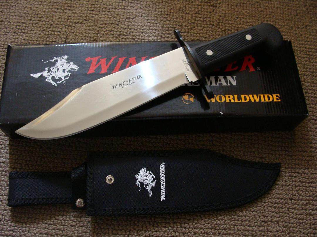 Winchester Black Bowie Knife - Sheath image 0