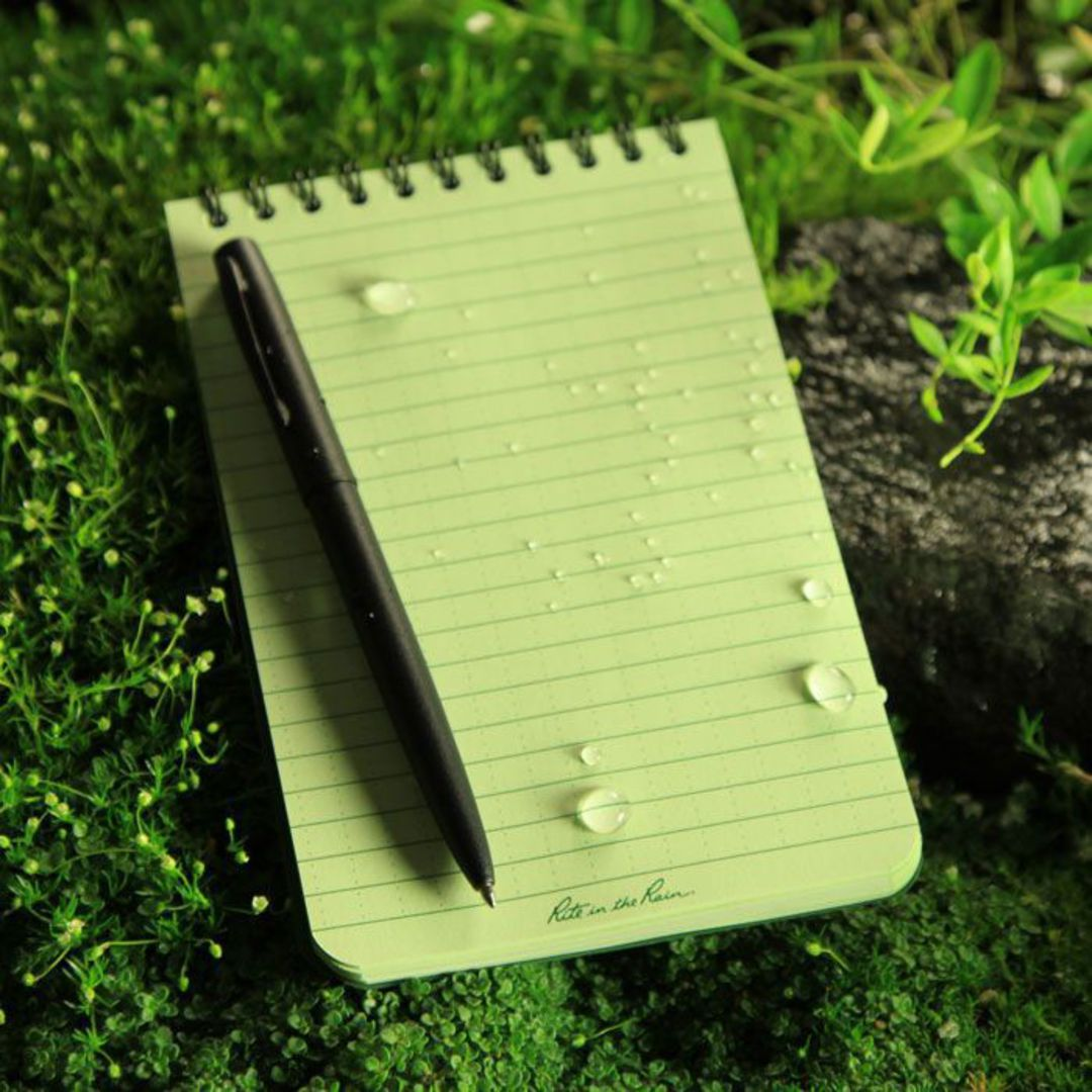 "Rite in the Rain Universal Polydura Tactical Pocket Notebook, 4"" x 6"", Green image 1"