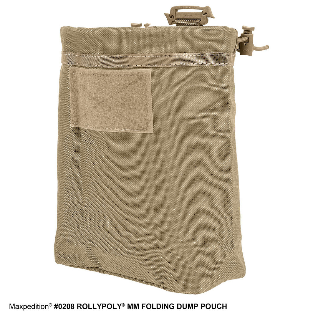 Maxpedition Rollypoly® MM Folding Dump Pouch - Khaki image 2
