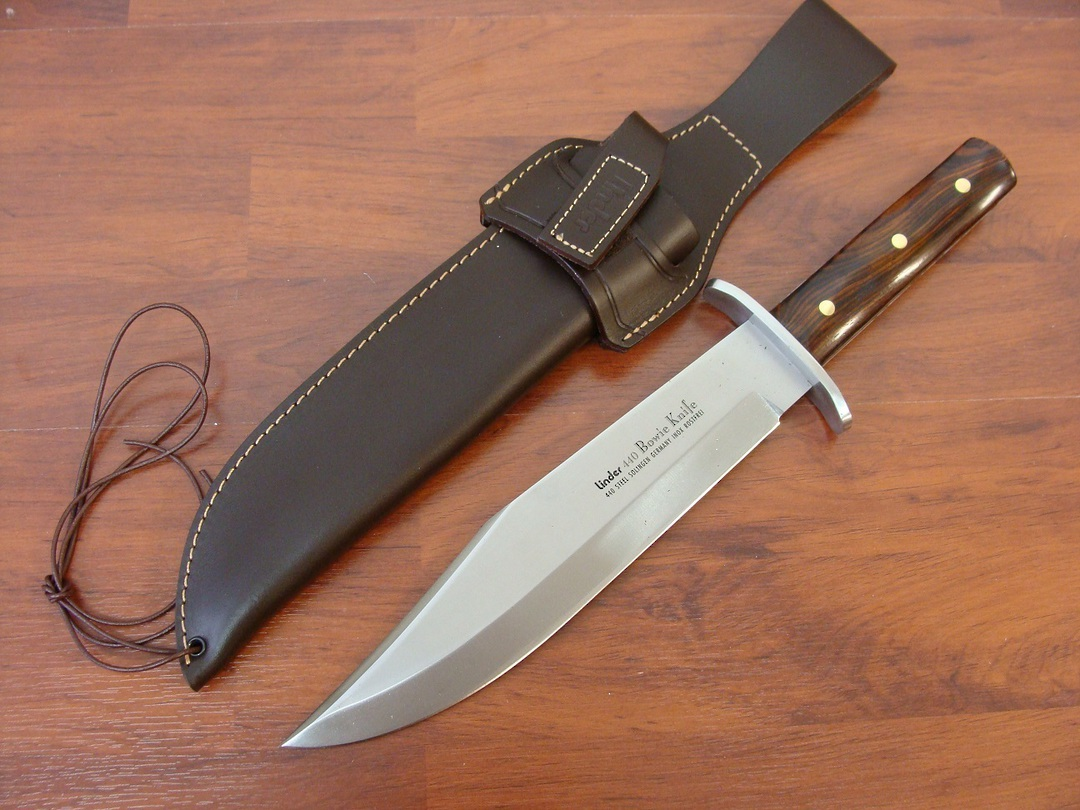 Linder Cocobolo Bowie Fixed Knife image 0