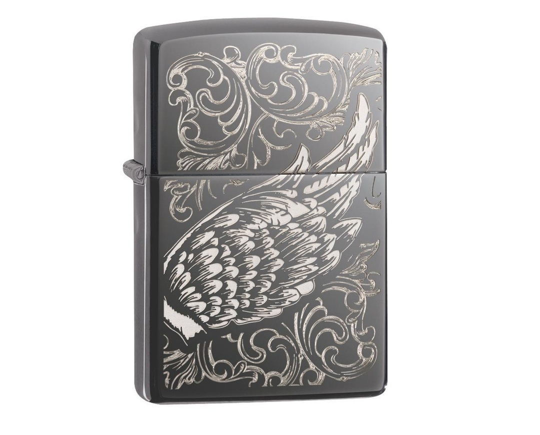 Zippo Filigree Flame and Wing Design image 0