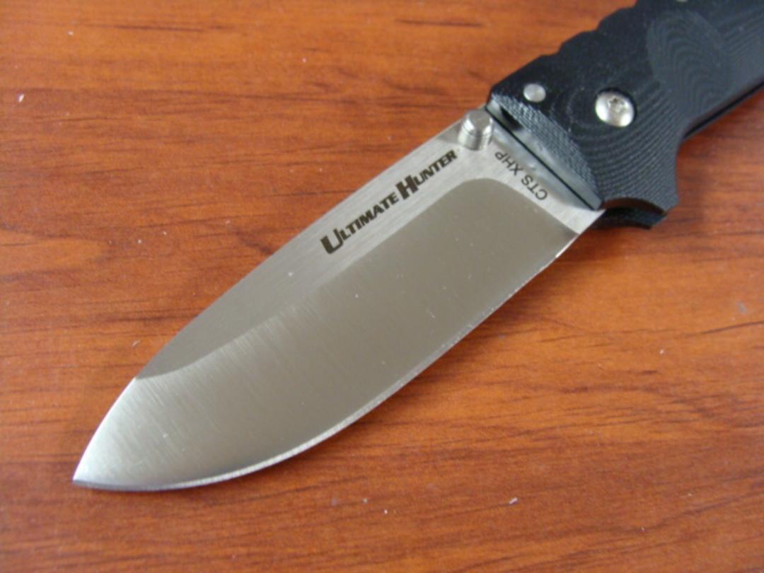 Cold Steel Ultimate Hunter Folding Knife S35VN Blade, Black G10 Handles image 1