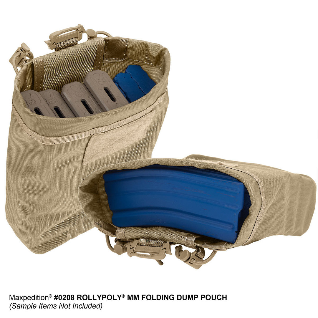 Maxpedition Rollypoly® MM Folding Dump Pouch - Khaki image 8