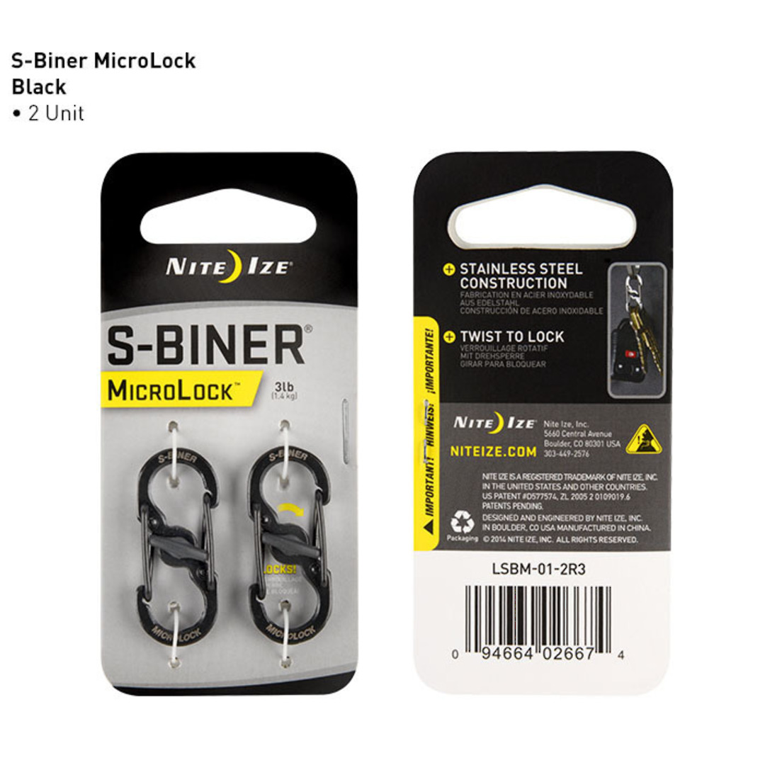 Nite Ize S-Biner Microlock Set of 2 image 0